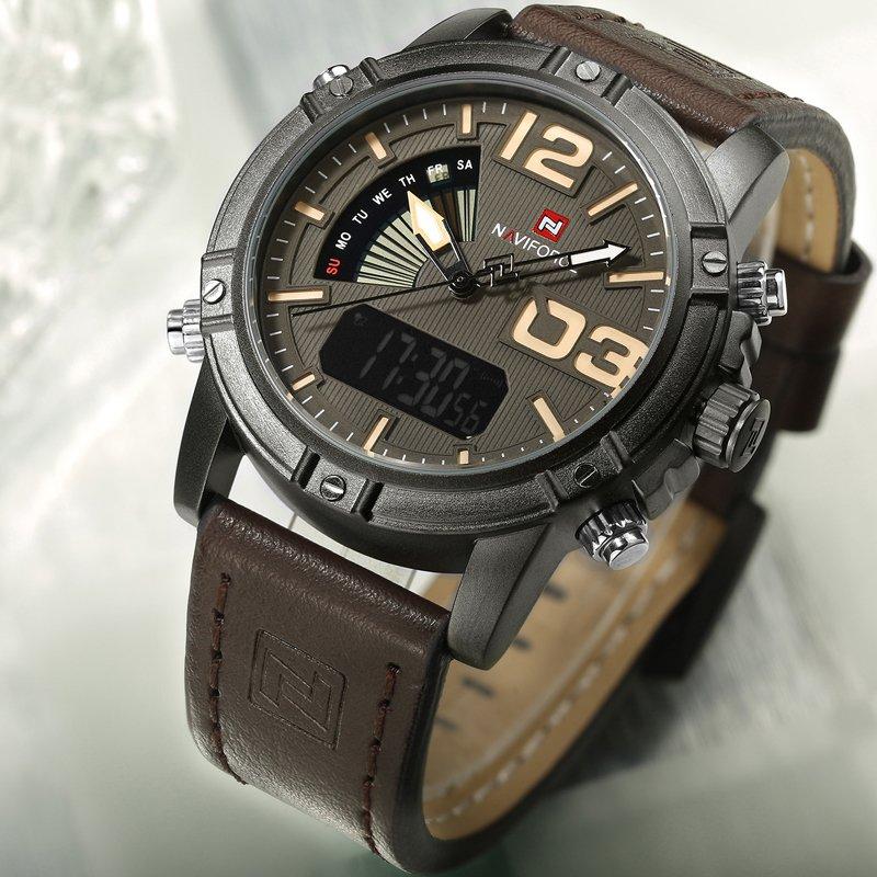 c09f1e682ec Relógio Naviforce Masculino Pulseira em Couro - Frete Grátis