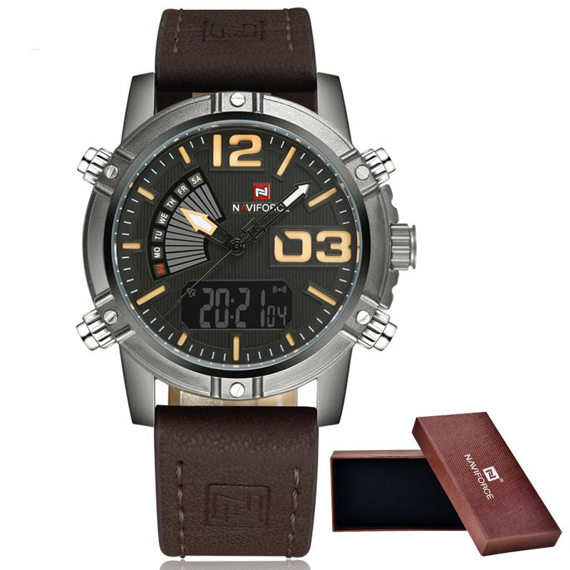 f598e645673 Relógio Naviforce Masculino Pulseira em Couro - Frete Grátis