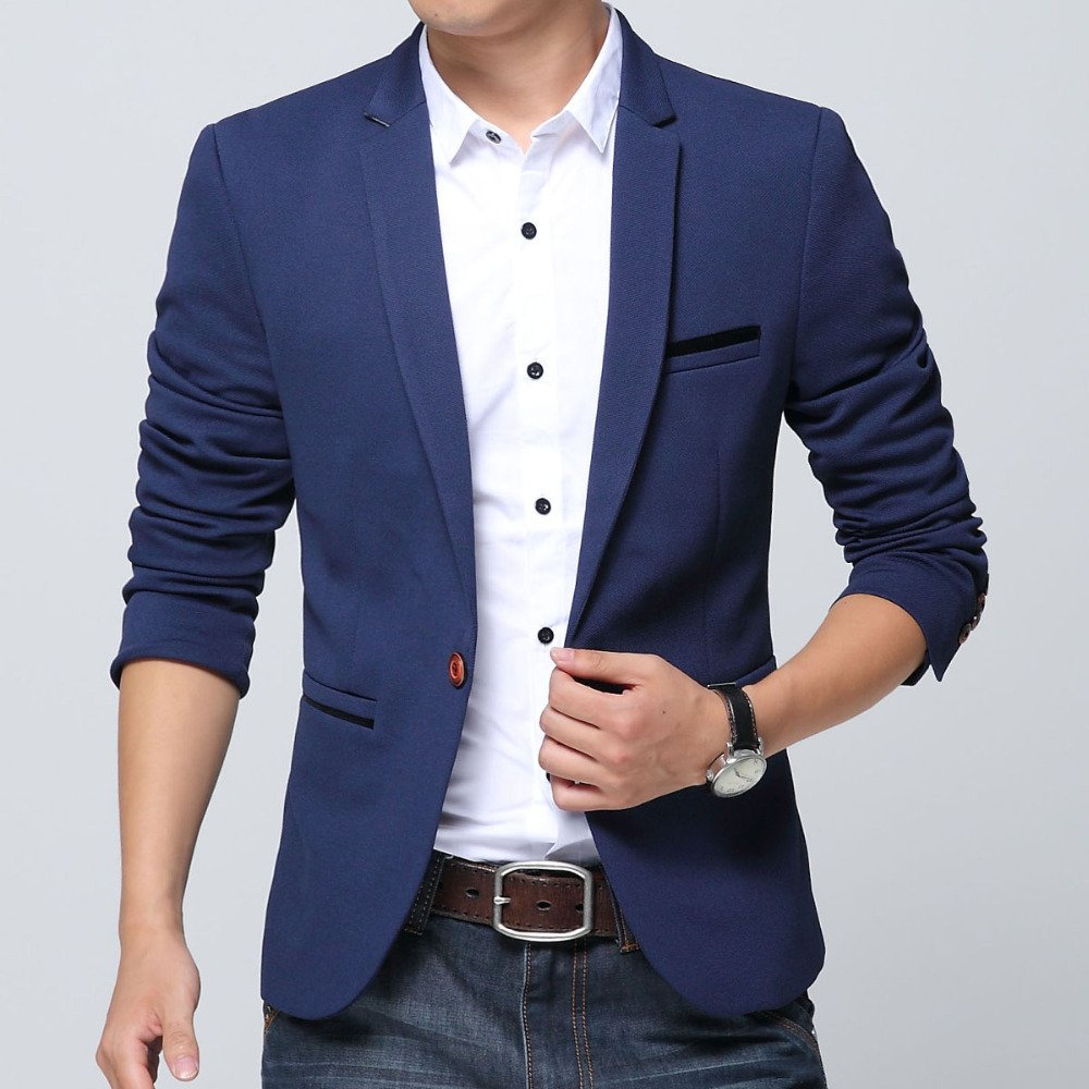 Blazer Casual Slim Fit Masculino
