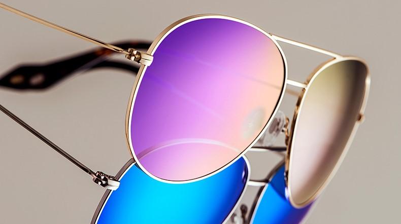 f09febc797648 Lentes espelhadas nome Marca VEGOOS Moda Aviador Espelhado Lente polarizada.  Armação em Aço Inoxidável S316 Adequado para rostos com formato redondo