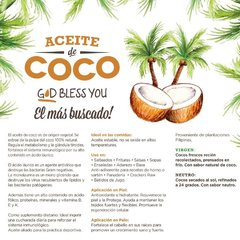 3x Aceite De Coco Neutro God Bless You 225 ml - Prensada En Frío - tienda online