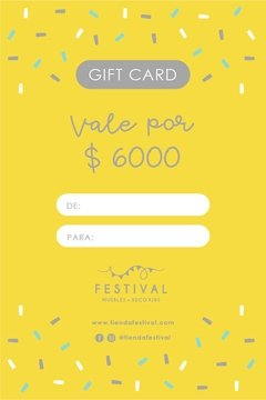 Gift Card $6000