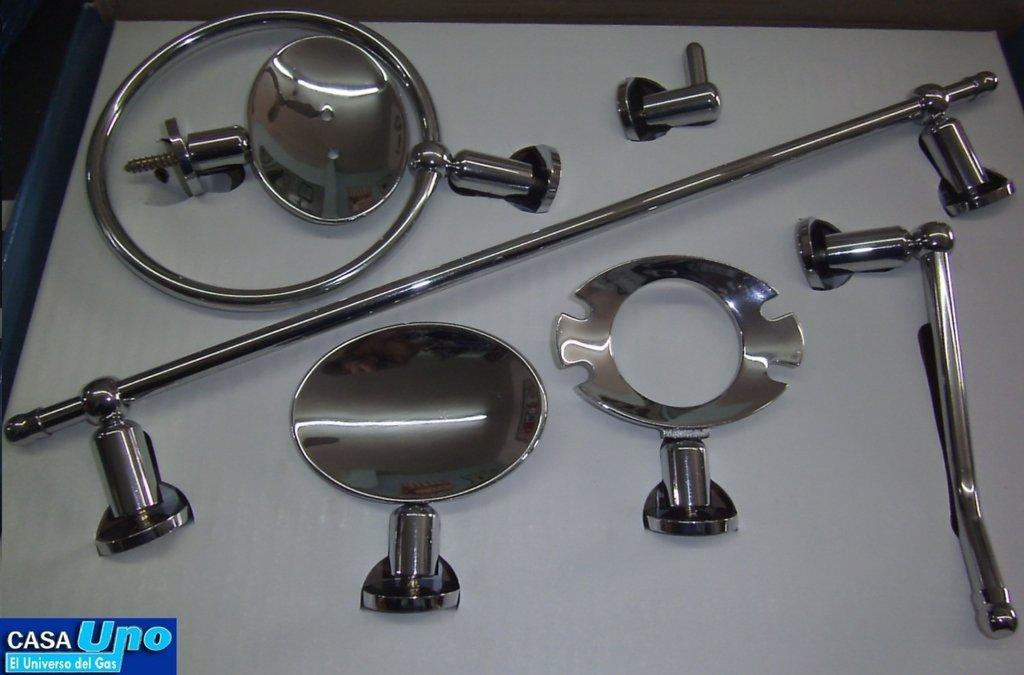 Set accesorios ba o 100 x 100 bronce siena for Set accesorios bano