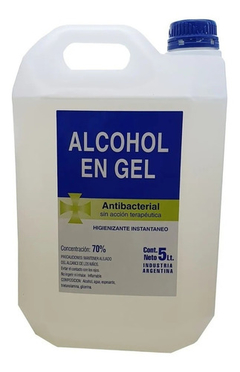 Alcohol En Gel 70% Desinfectante Antibacterial 5 Litros