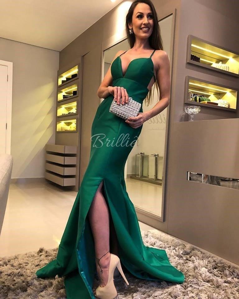 58ba39c3aaf9 Vestido Verde Esmeralda Sereia - Comprar em Brilliê