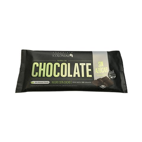 Chocolate 55% - sin azúcar - Colonial
