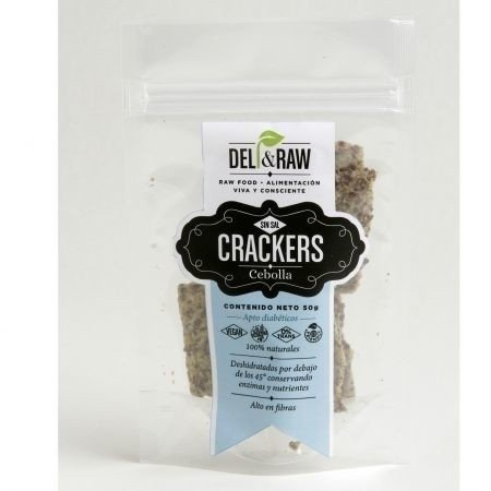 Crackers de cebolla de 90 gr | Deli and raw