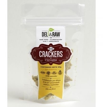 Crackers de curcuma de 90 gr | Deli and raw