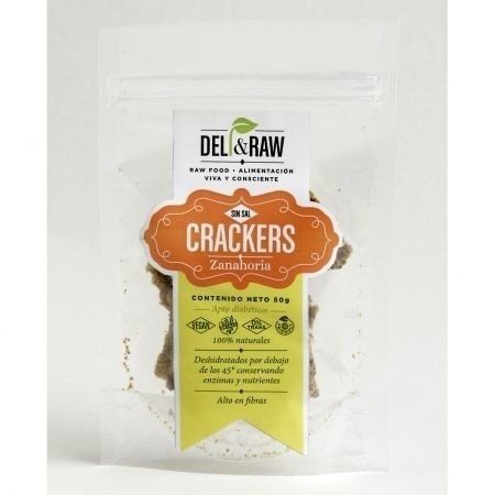 Crackers de zanahoria de 90 gr | Deli and raw