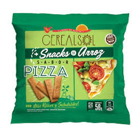 Galletas de arroz - Sabor Pizza x50g - Cereal Sol