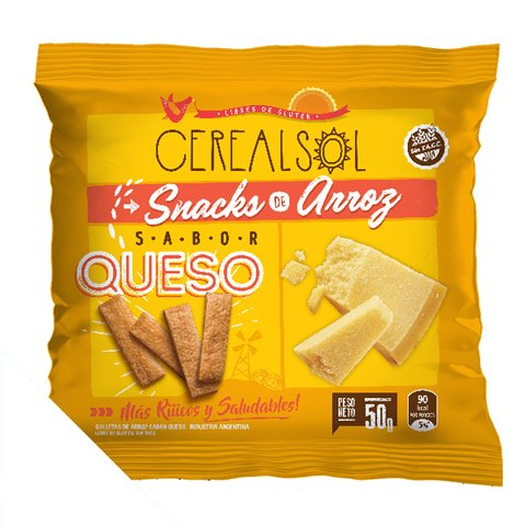 Galletas de Arroz - Sabor Queso x50g - Cereal Sol