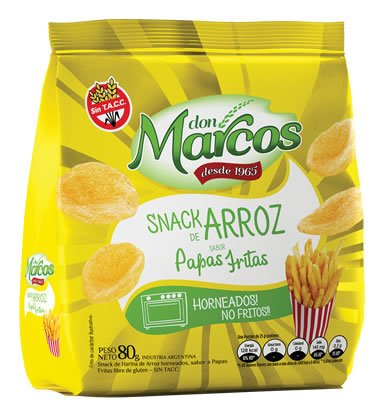 Snacks de Arroz 80gr - Papas Fritas - DON MARCOS