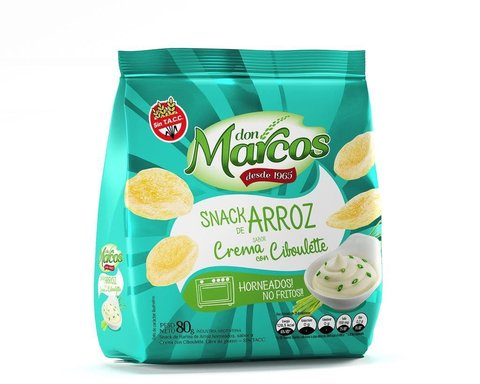 Snacks de Arroz 80gr  - Crema y Cibollete - DON MARCOS