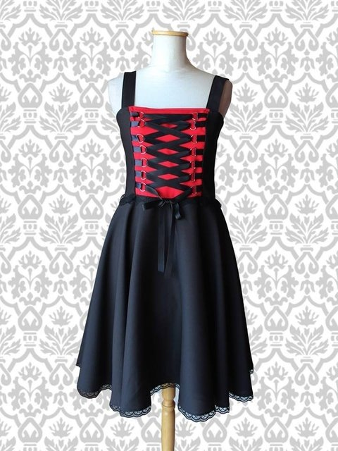 Vestido Liv R/N - Pin Up Argentina - Le Chat Noir
