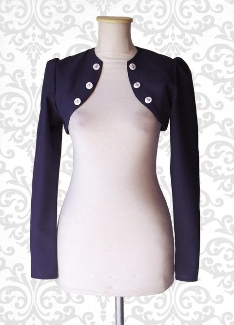 bolero torerita pin up marinero navy ropa pin up ropa bariloche compras indumentaria pin up anclas azul