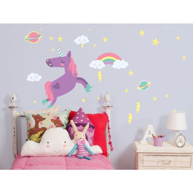 Sticker unicornio 1 l mina la peque a galeria - Pegatinas leroy merlin ...
