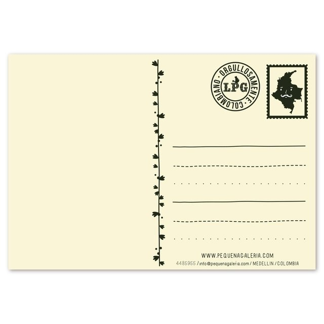 Postal Oso Colombia - comprar online