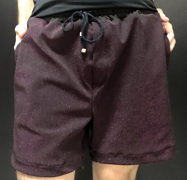 Shorts Neoprene Lurex Rosa