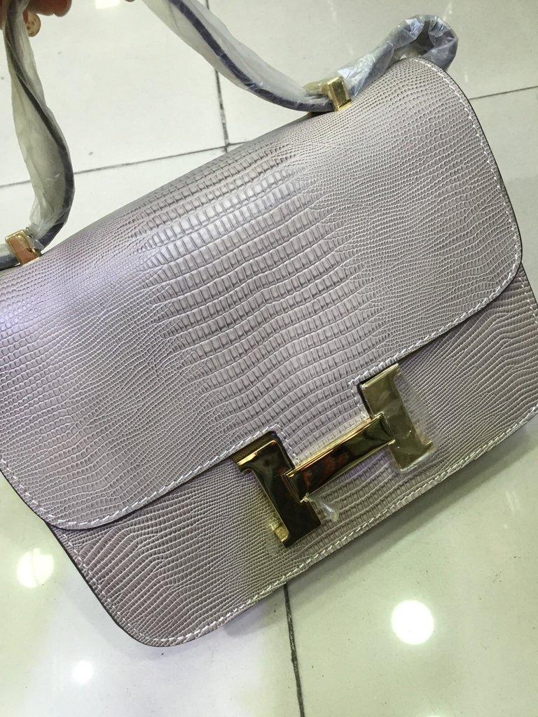 2e4f74859 Bolsa Hermès Constance Cinza - Linha Premium