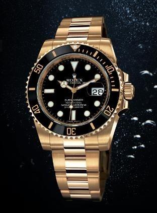 67b2f7486db Relógio ROLEX Submariner Gold