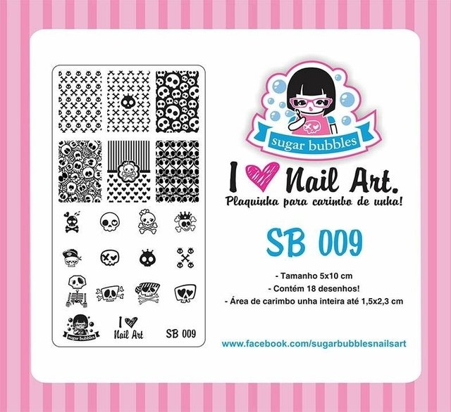 Placa de Stamping Sugar Bubbles SB 009