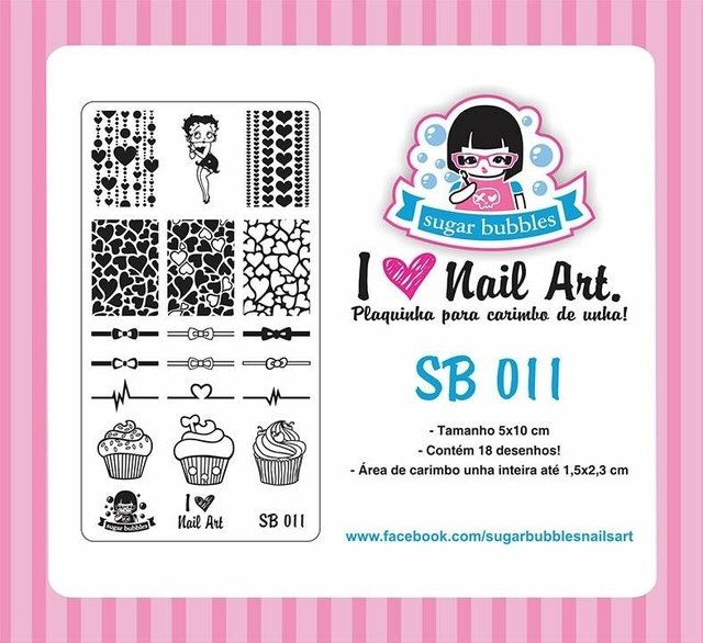 Placa de Stamping Sugar Bubbles SB 011