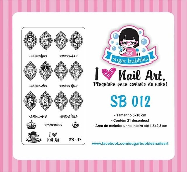 Placa de Stamping Sugar Bubbles SB 012
