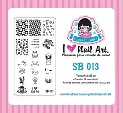 Placa de Stamping Sugar Bubbles SB 013