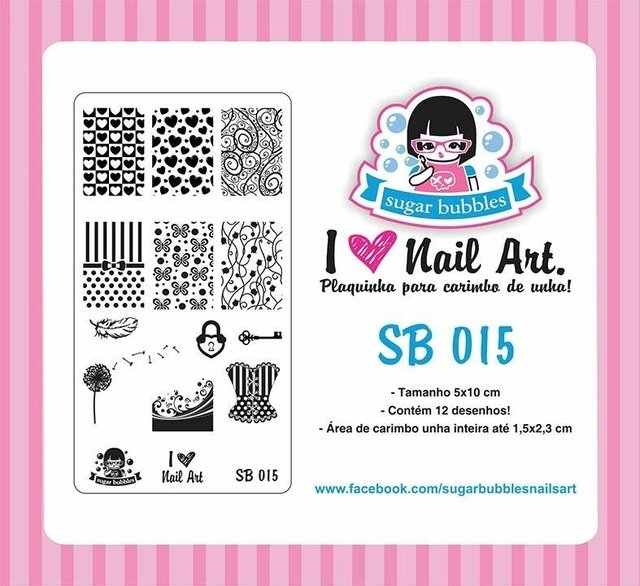 Placa de Stamping Sugar Bubbles SB 015