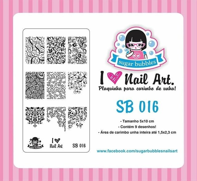 Placa de Stamping Sugar Bubbles SB 016