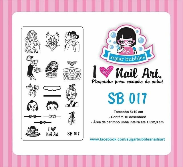 Placa de Stamping Sugar Bubbles SB 017