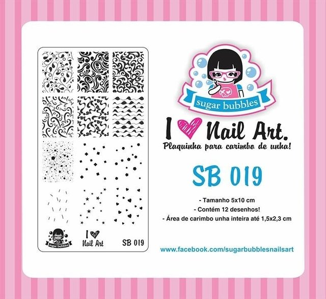 Placa de Stamping Sugar Bubbles SB 019