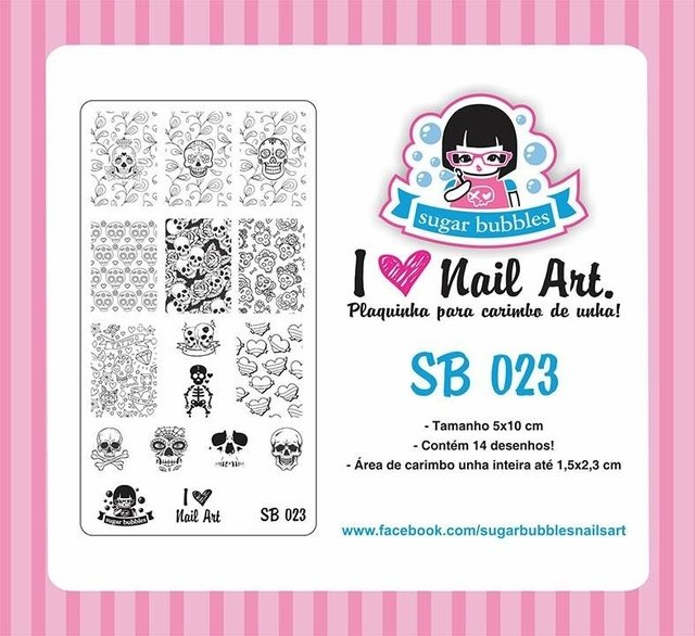 Placa de Stamping Sugar Bubbles SB 023