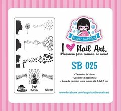 Placa de Stamping Sugar Bubbles SB 025