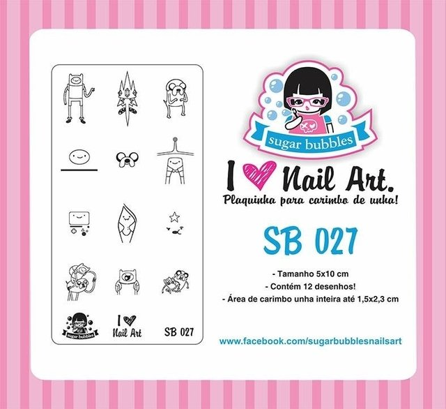 Placa de Stamping Sugar Bubbles SB 027