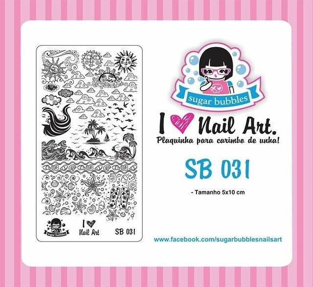 Placa de Stamping Sugar Bubbles SB 031