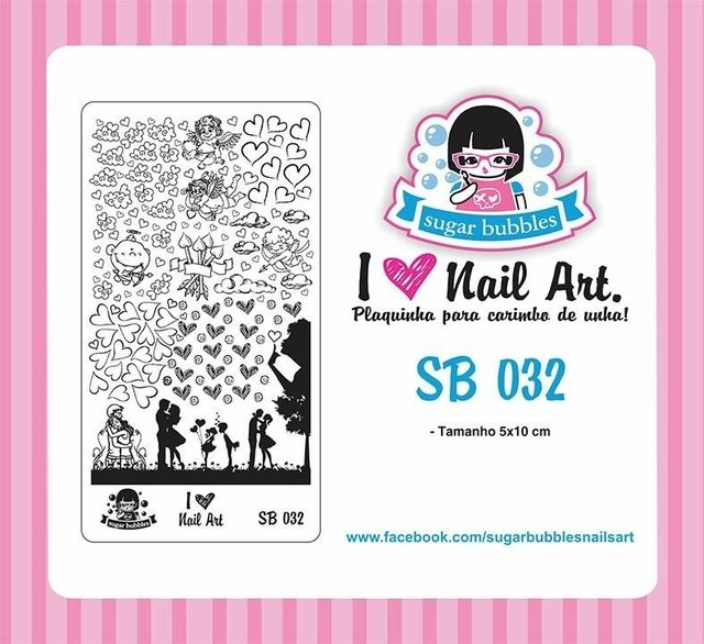 Placa de Stamping Sugar Bubbles SB 032