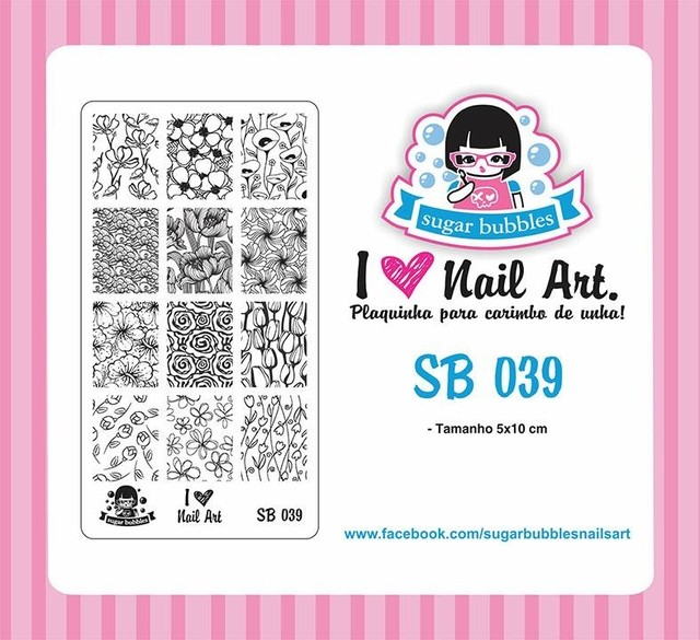 Placa de Stamping Sugar Bubbles SB 039