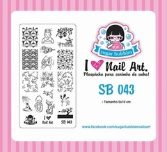 Placa de Stamping Sugar Bubbles SB 043