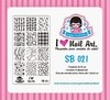 Placa de Stamping Sugar Bubbles SB 021