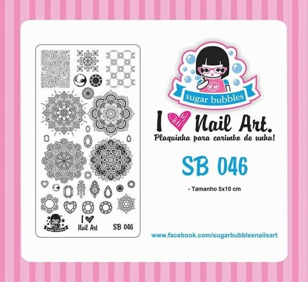 Placa de Stamping Sugar Bubbles SB 046