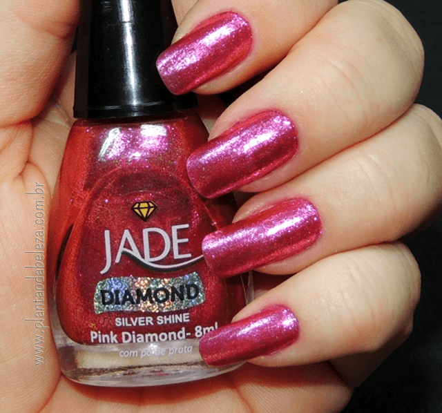 Esmalte Jade Diamond Silver Shine Pink Diamond