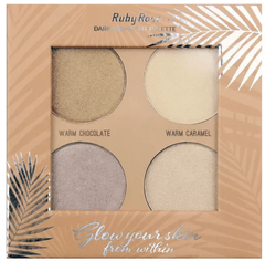 Paleta de iluminadores Glow your skin -  Ruby Rose (HB7500)