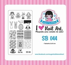 Placa de Stamping Sugar Bubbles SB 044