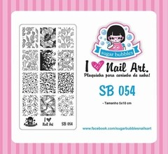 Placa de Stamping Sugar Bubbles SB 054