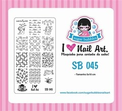 Placa de Stamping Sugar Bubbles SB 045