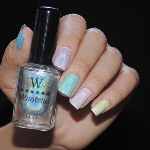 Esmalte Whatcha Top Coat Holo
