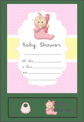 d9177241961a2 Comprar Invitaciones Baby Shower en katu  Beba Tierna Rosa ...