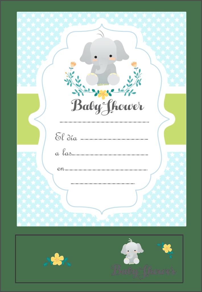 Invitaciones Con Souvenir Baby Shower
