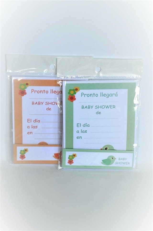 Invitaciones con souvenir - Baby Shower